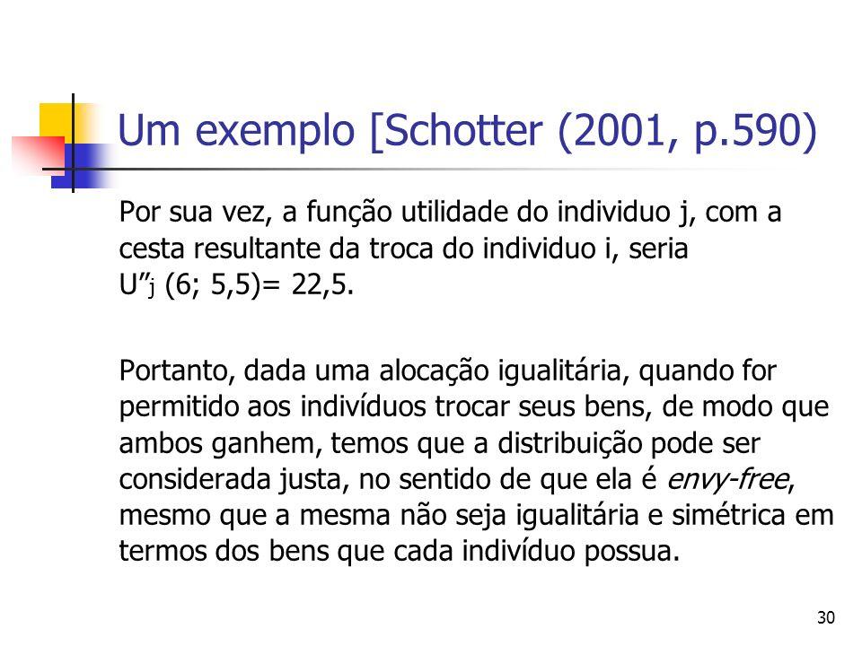 Um exemplo [Schotter (2001, p.590)